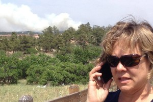 OC's Kathie Carlson tracking the fire from the pre-evacuation zone