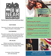 Near Frontiers ministry card