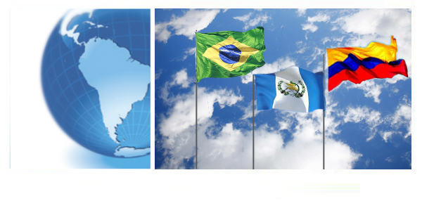 Globe and Flags of Latin America