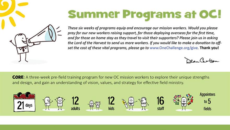 OC summer training programs
