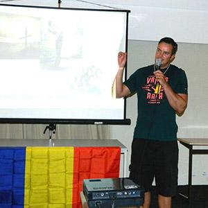 Mihai speaking