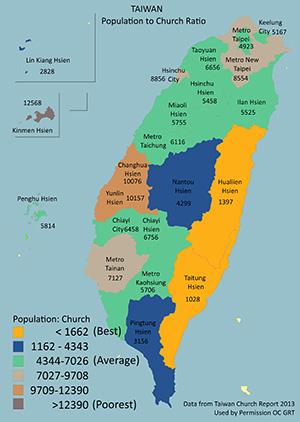 Taiwan population-to-church-ratio
