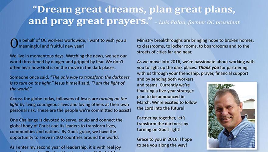 Prayer Focus for Jan/Feb 2016 ... New Year (Video)