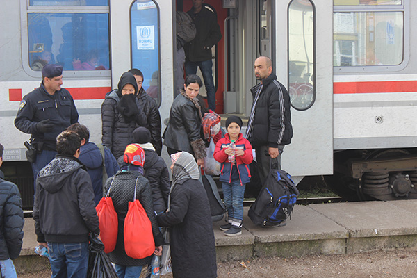 serving refugees at train station