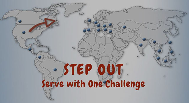 Step Out ... Serve with One Challenge